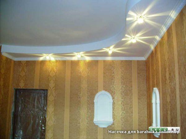 Потолок из гипсокартона волна фото