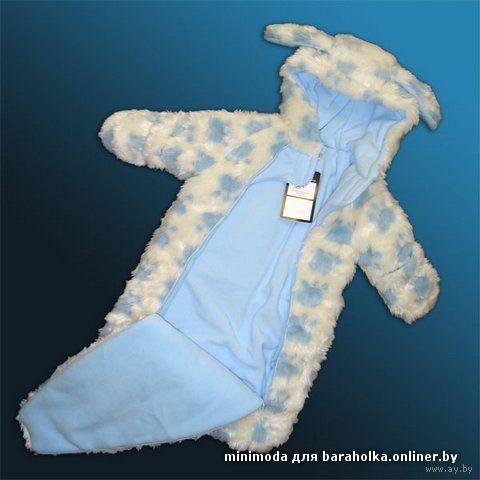Комбинезон-конверт для новорожденного своими руками 57