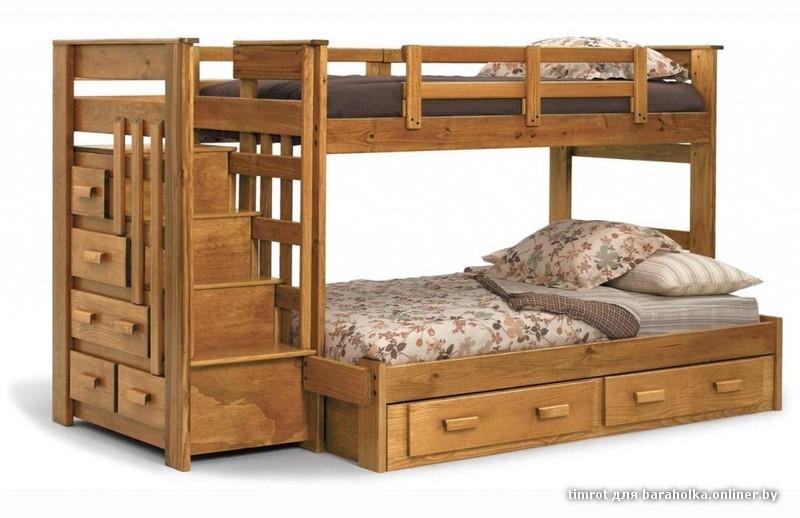 двухъярусные детские кровати +из ольхи фото 3. Фото 3. двухъярусные детские кровати +из ольхи