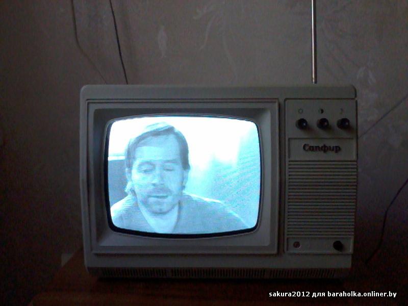 Телевизор Сапфир 23ТБ-307 чёрно-белого изображения ( в идеальном состоянии, 100% рабочий).