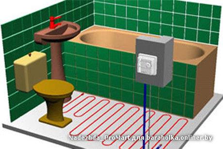 Как сделать тёплый пол в туалете