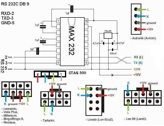схема usb com max232 - Практическая схемотехника.