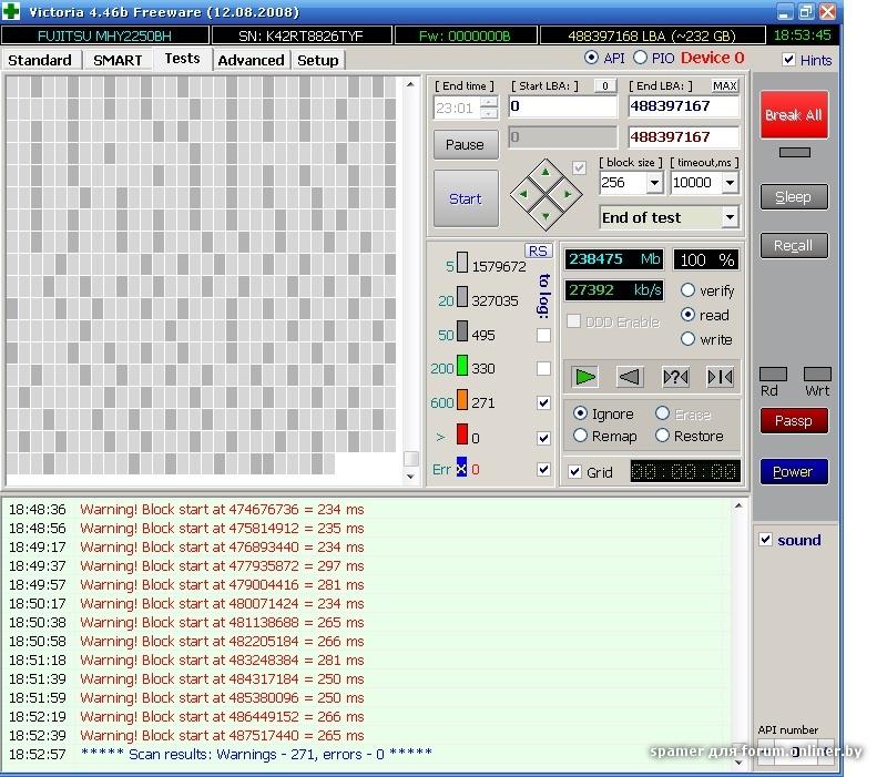 Программа проверки жесткого диска victoria 1