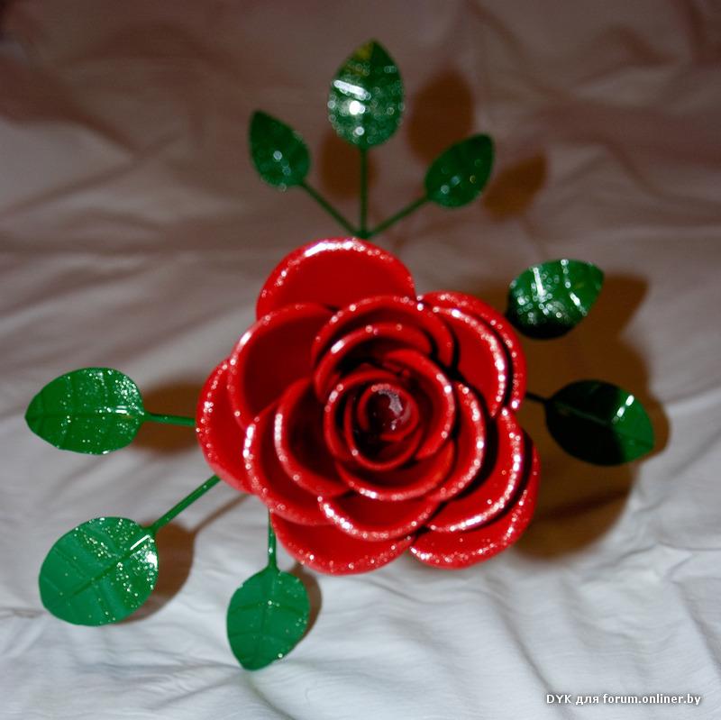 Фото цветы из железа