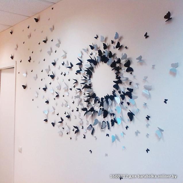 3д бабочки в интерьере фото