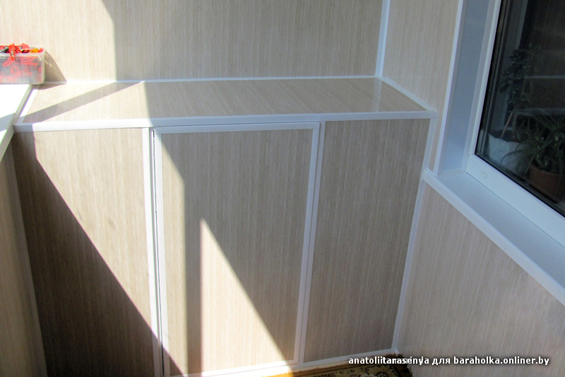 Шкаф из панелей пвх на балкон своими руками 23