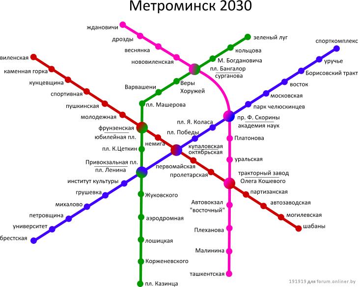 План метро, тоже по