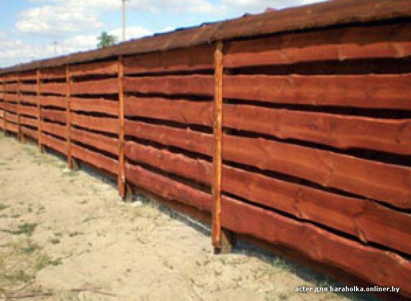 Забор с необрезной доски своими руками