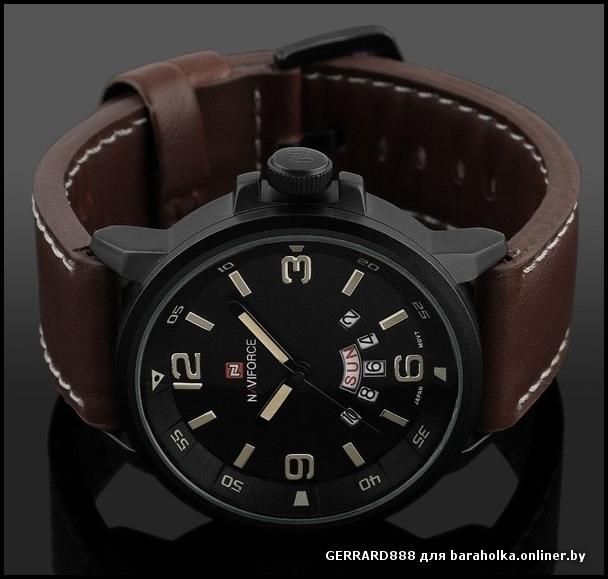 Новинка 2015, брендовые мужские спортивные кварцевые часы в стиле милитари с кожаным ремешком, армейские