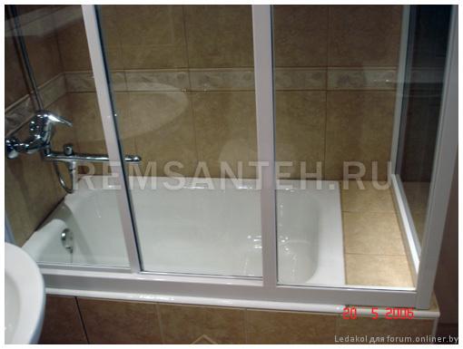 Стеклянный экран для ванной своими руками 74