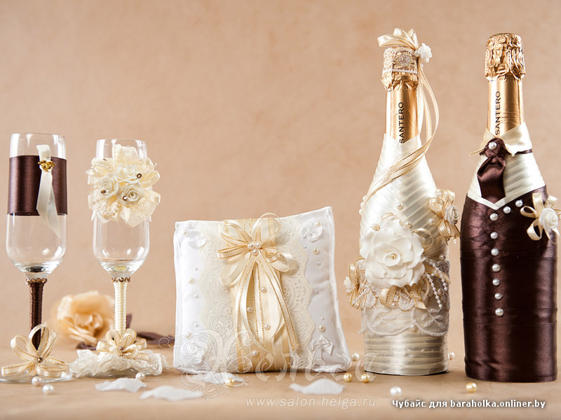 Декор аксессуаров на свадьбу своими руками фото