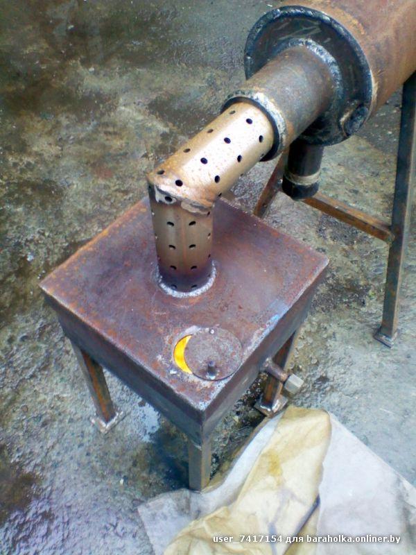 Печь на отработке из труб 92
