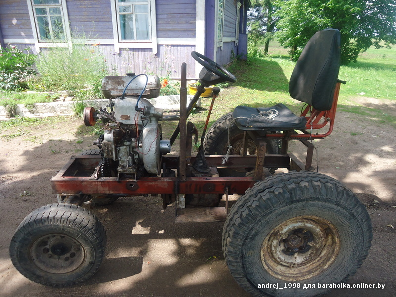 смотреть самодельные трактора