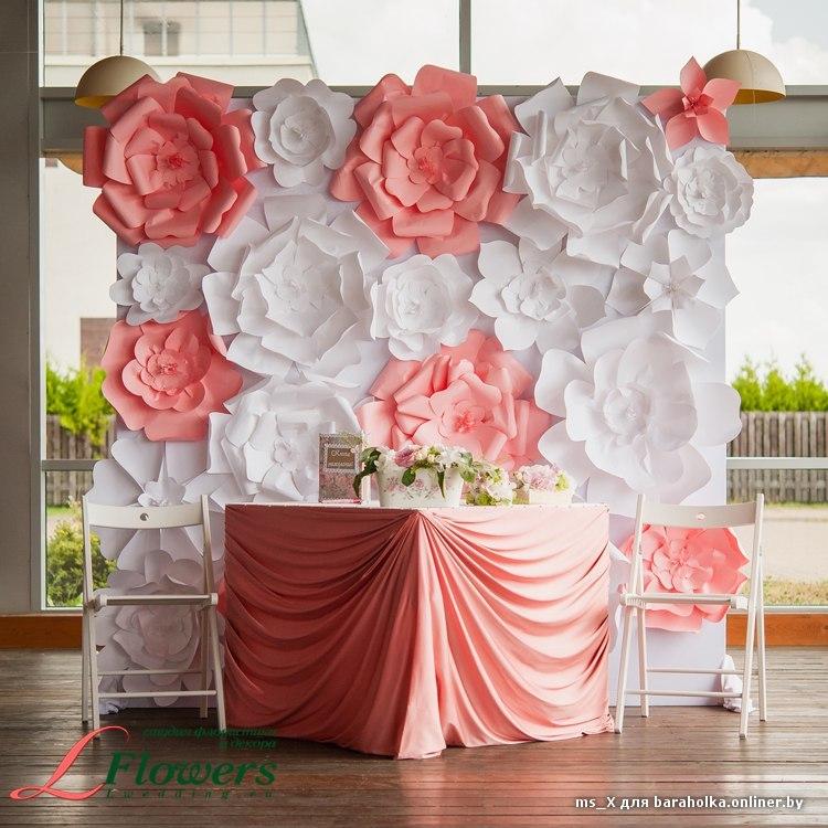 Как сделать фотозону на свадьбу из цветов