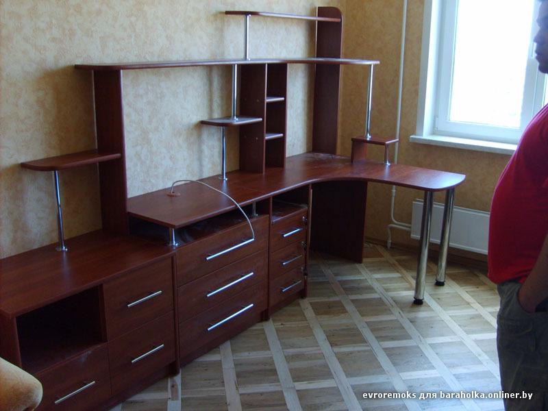 Компьютерные столы, письменные столы, тумбы - тв , горки, д..