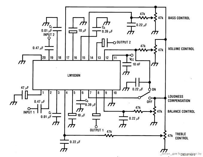 LM1036 volume controller