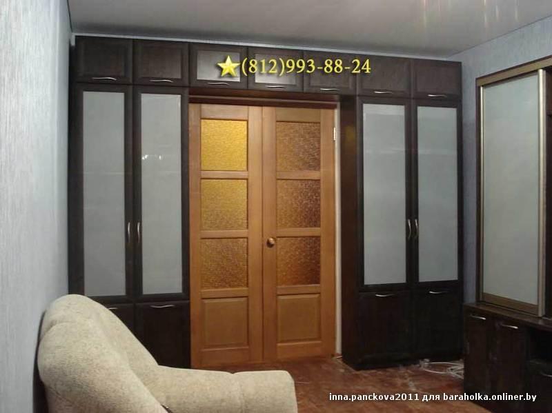 Книжный шкаф між дверима