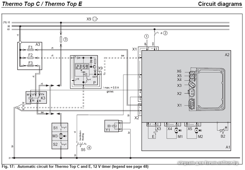 Webasto Thermo Top C E Circuit