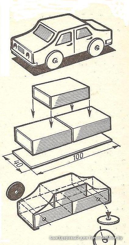 Как сделать машинка из коробков