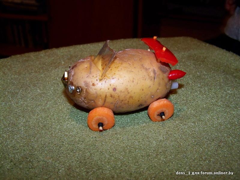 Поделки из овощей и картошки 46
