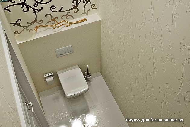 Дизайн туалета черно-белый