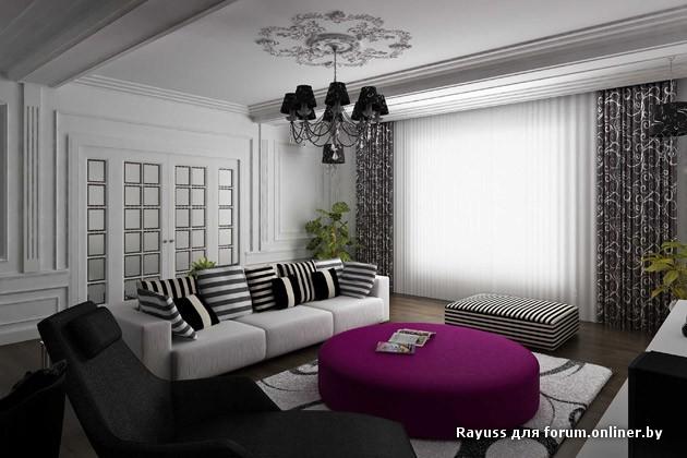 интерьер коттеджа в классическом стиле.