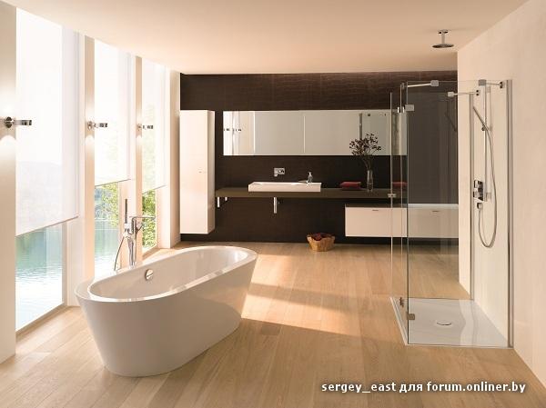 Дизайн с отдельно стоящей ванной