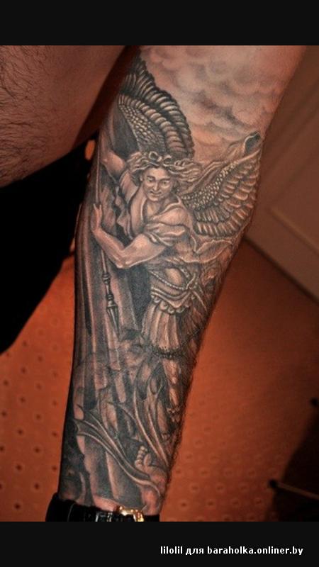 Татуировки архангела михаила на руке