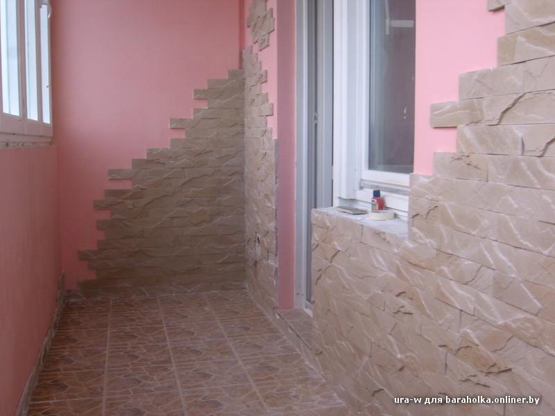 Отделка балконов кирпичиками частично фото.