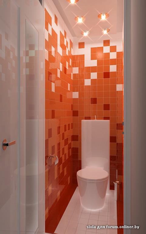 Дизайн потолков в туалете