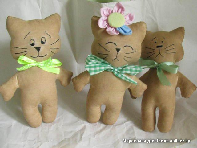 Игрушки своими руками фото коты - Альтаир и К