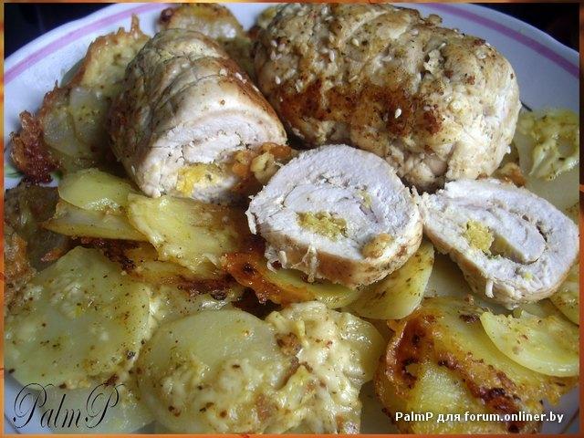 Куриные рулетики с апельсином и картофель Дофине-.jpg