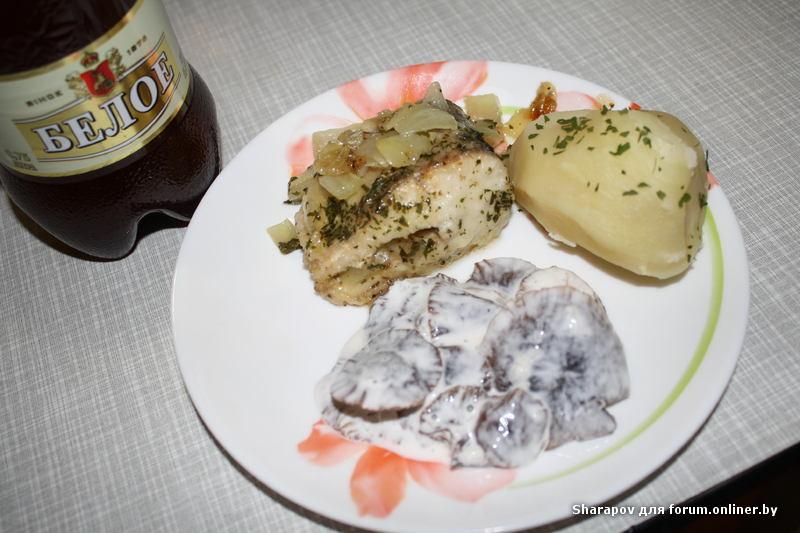 Щука с картофелем по-немецки