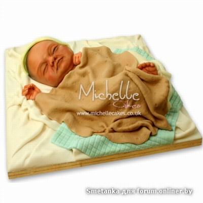 Торты в виде младенцев фото