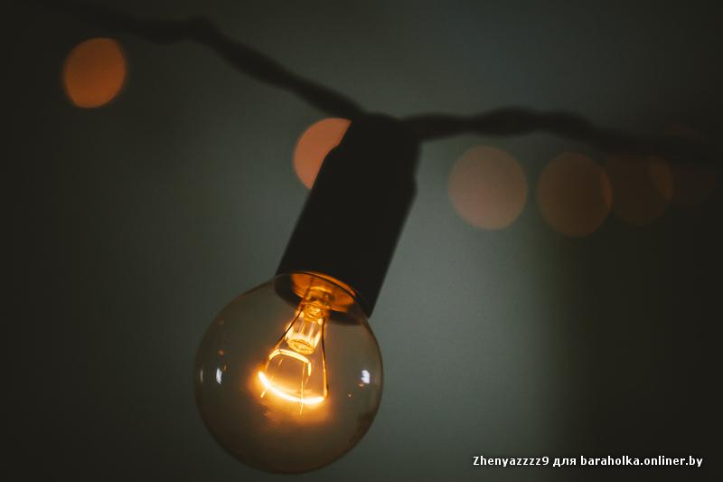 Гирлянды с лампами накаливания своими руками