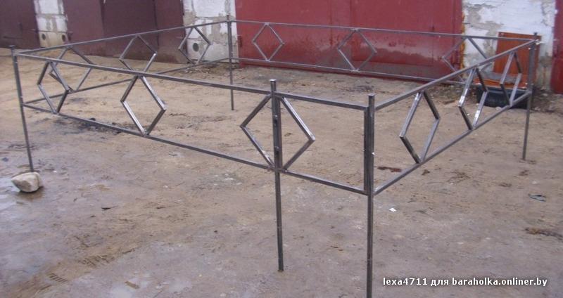 Ограда на кладбище своими руками из подручных материалов 10