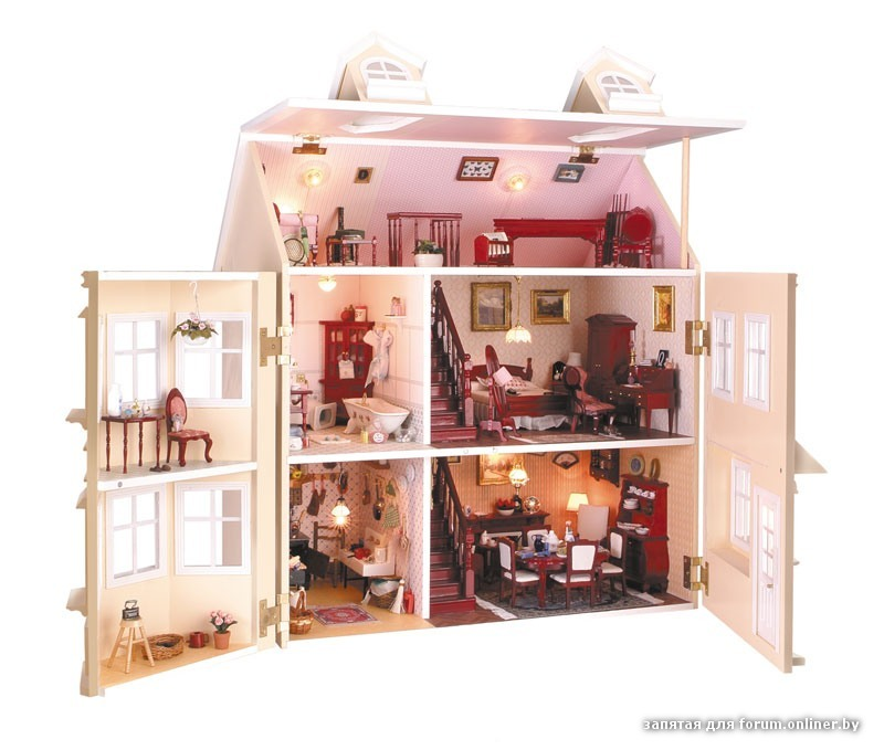 Сделать кукольный домик своими руками с фото 548