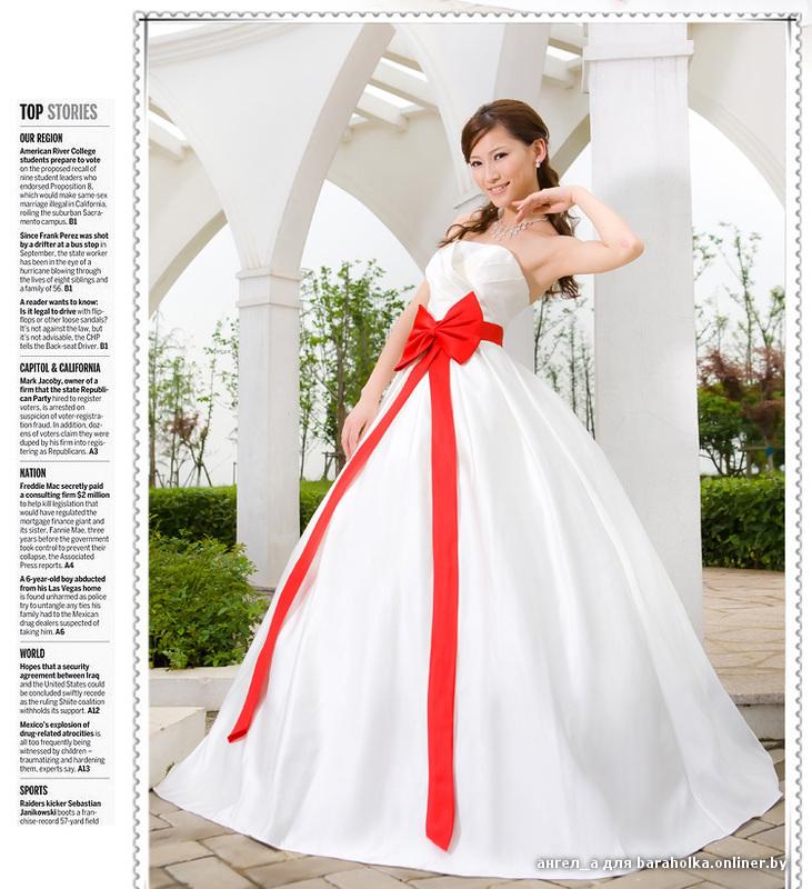 Свадебные банты на платьях