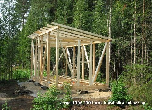 Построить сарай на даче своими руками пошаговое фото