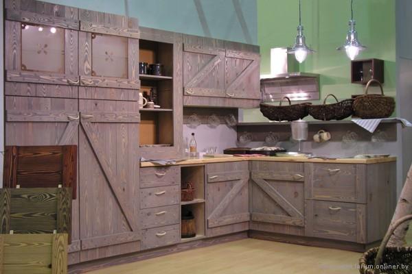 ...кухни кантри, кухни в деревенском стиле, деревянные