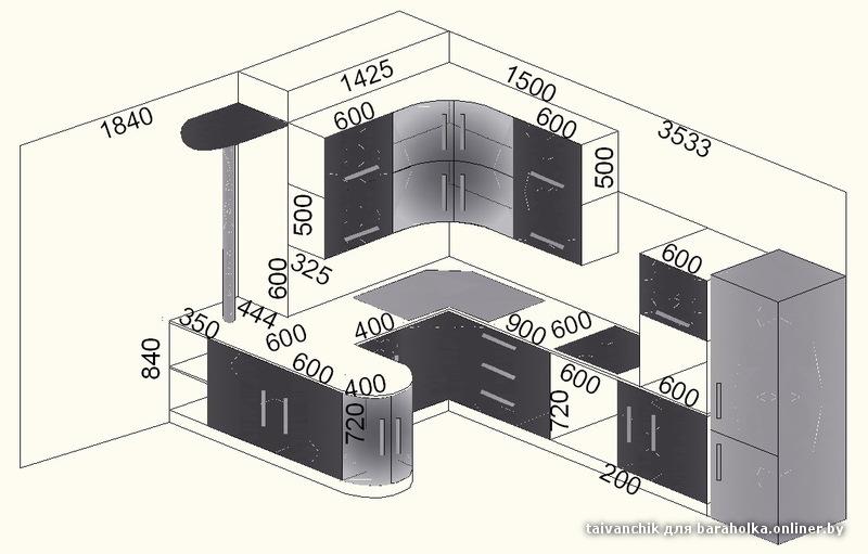 фартуки для кухни черно-белый фото