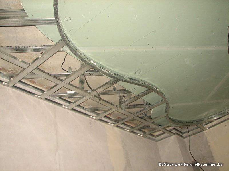 Как сделать потолок волной из гипсокартона видео