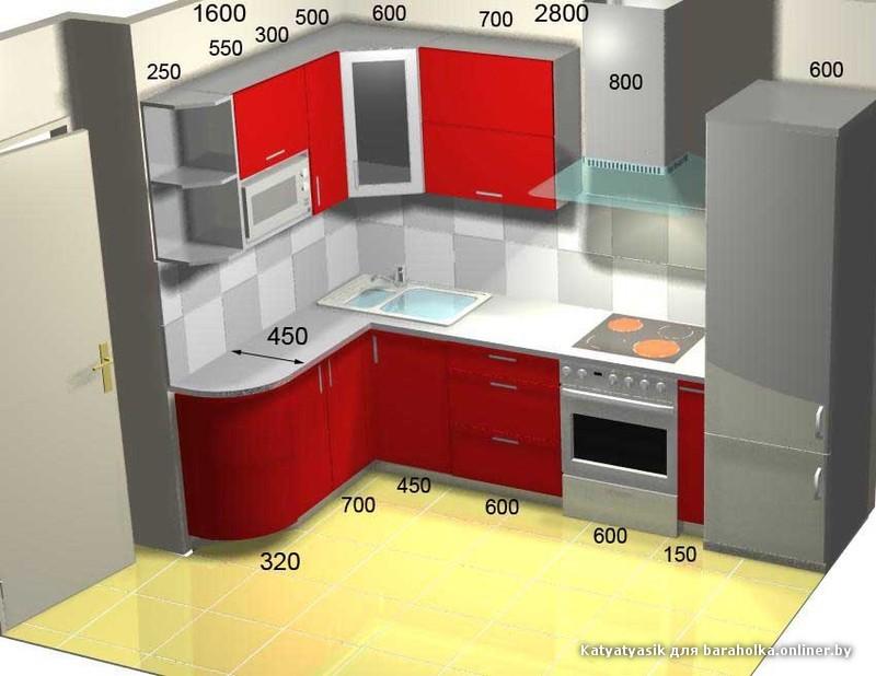 Кухня правая угловая дизайн