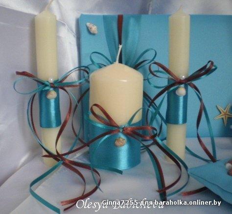 Свечи своими руками украшение