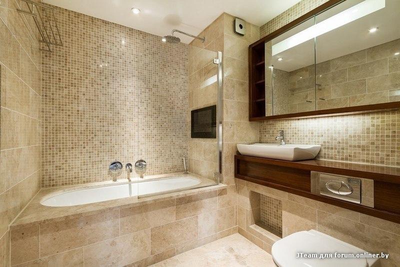 Варианты дизайна плитки ванной комнаты