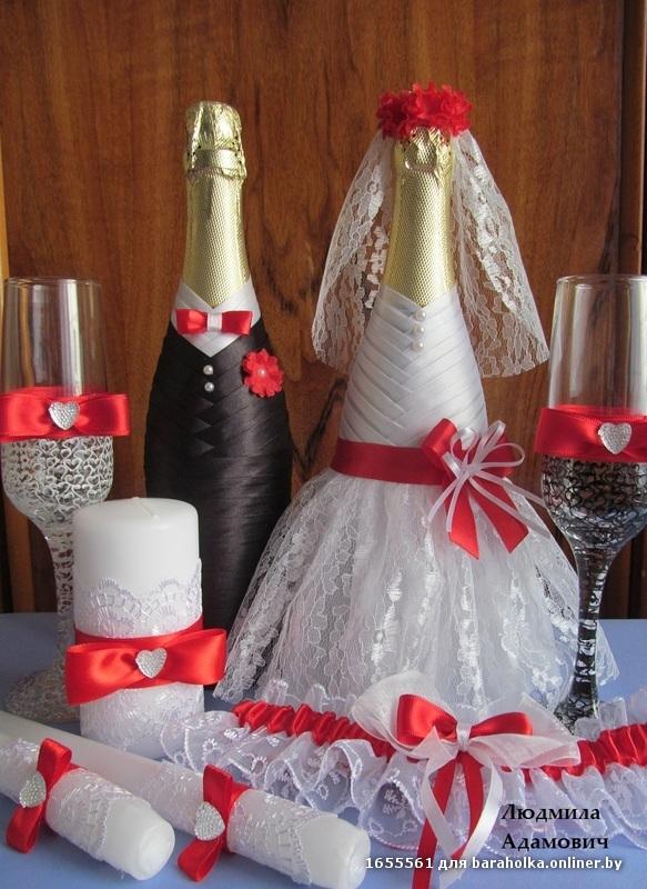 Свадебное шампанское своими руками фото