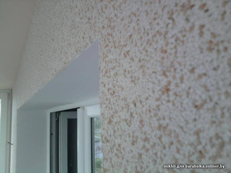 Шпаклевка стен на балконе.