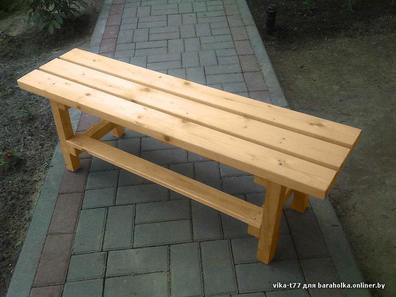 Сделать своими руками скамейка