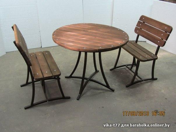 Садовые стулья из металла своими руками