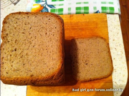 Рецепт ржаного хлеба в хлебопечке с ржаной мукой
